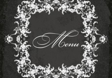 Free vector Ornamental menu frame #24648