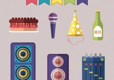 Free vector Party elements pack #25511