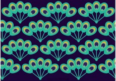 Free vector Peacock Beautiful Tail Pattern Vector #23003