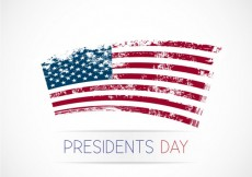 Free vector Presidents day background with grunge flag #22356