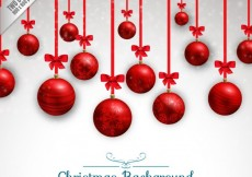 Free vector red christmas balls background #24888