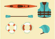 Free vector River Rafting Vector Set #21239