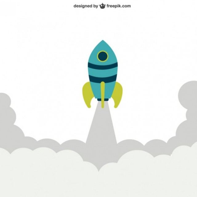 Free vector Rocket launching #22248