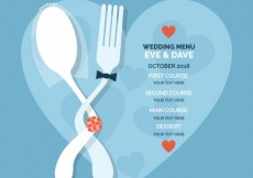 Free vector Romantic wedding menu #25727