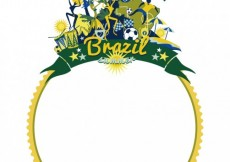 Free vector Rounded frame of Brazil  #24444