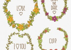 Free vector Save the Date floral ornaments collection #22509