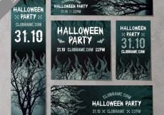 Free vector Scary halloween stationery #24400