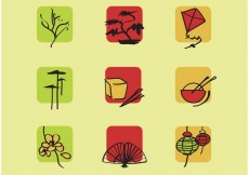 Free vector Set Chinese Vector Icons #23988