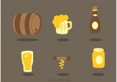 Free vector Set Of Alcohol Icons Vectors #22125