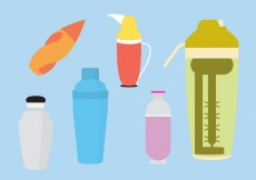 Free vector Set of Cocktail Shakers in Vector #20537