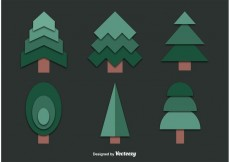 Free vector Set of Cut Out Tree Vectors #22678