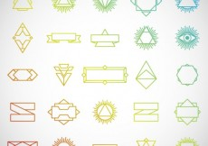 Free vector Set of hipster insignias #21052