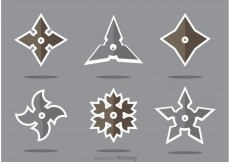 Free vector Set of Ninja Star Vector #22349