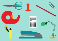 Free vector Set of Office Tools in Vector #20583