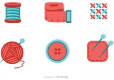 Free vector Sewing And Needlework Flat Icons Vector #23160