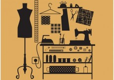 Free vector Sewing and Tailor Vector Symbols #27284