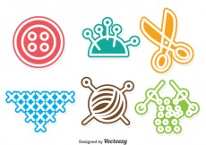 Free vector Sewing Colorful Vectors #26131