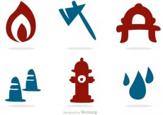 Free vector Silhouette Icons Fireman Vector Pack #21823