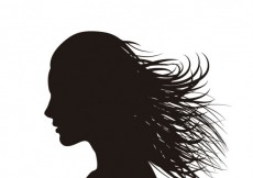 Free vector Silhouette of woman with waving hair #21752