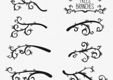 Free vector Silhouettes of tree branches #24980