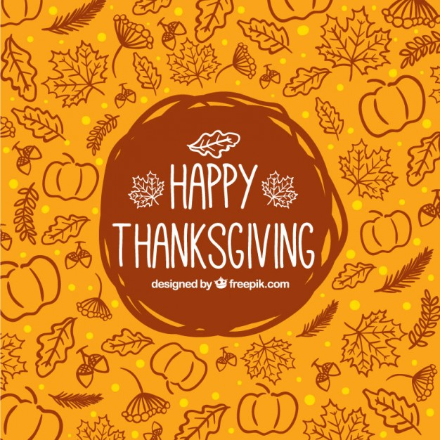 Free Vector Sketchy Thanksgiving Background 26381