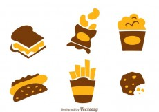Free vector Snack Food Icons #20967
