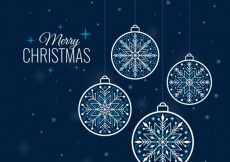 Free vector Snowflake baubles background #26731