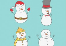 Free vector Snowmen Collection #24150