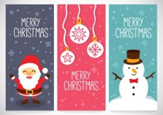 Free vector Snowy christmas banners #24454