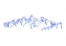 Free vector Snowy mountains illustration #21324