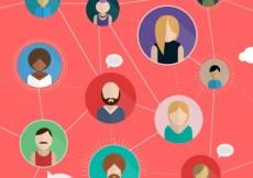 Free vector Social network concept in flat design #22332