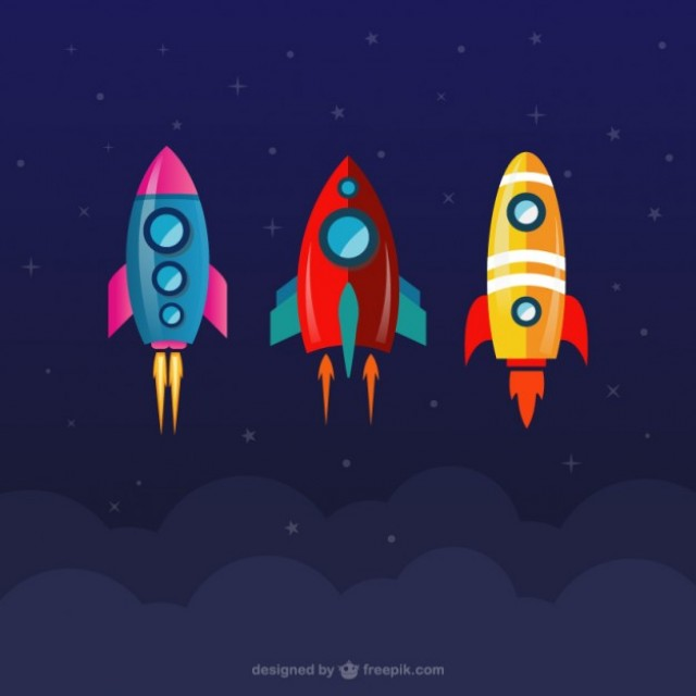 Free vector Space rockets collection #22262