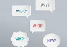 Free vector Speech bubbles with questions #21455