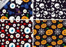 Free vector Spooky patterns set #24254