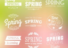 Free vector Spring badges collection #21308