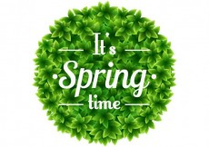Free vector Spring time on round bush #21413