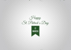 Free vector St patrick card with grass #20758