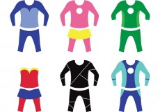 Free vector Superhero Kid Costume Vectors #23726