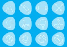 Free vector Thin Sports Vector Icons #25758