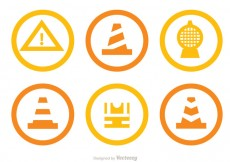 Free vector Under Construction Circle Icons #26668