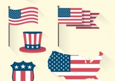 Free vector United States of Amerca Flag Set #27755