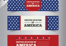 Free vector United Stats of America Banners Pack #26601