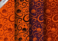 Free vector Variety of abstract halloween patterns #25597