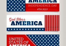 Free vector Variety of american banners #26852