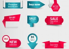 Free vector Variety of discount labels #21579