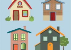 Free vector Variety of house facades #28132