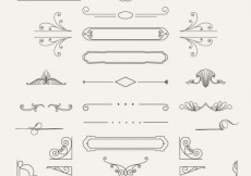 Free vector Variety of ornamental decorations #20998