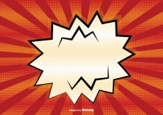 Free vector Blank Comic Style Background Illustration #25576