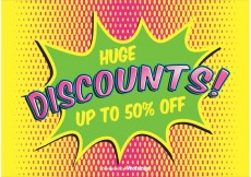 Free vector Comic Style Discount Background #21546