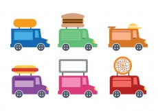 Free vector Cute Food Truck Icon Vectro #24533